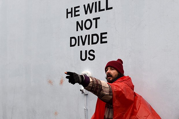Shia LaBeouf's 'He Will Not Divide Us' Art Installation Has Been Shut Down